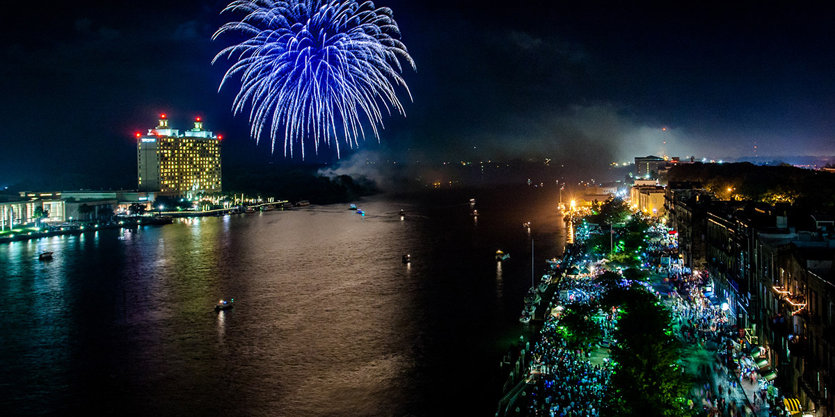 Celebrate at Savannah's Waterfront