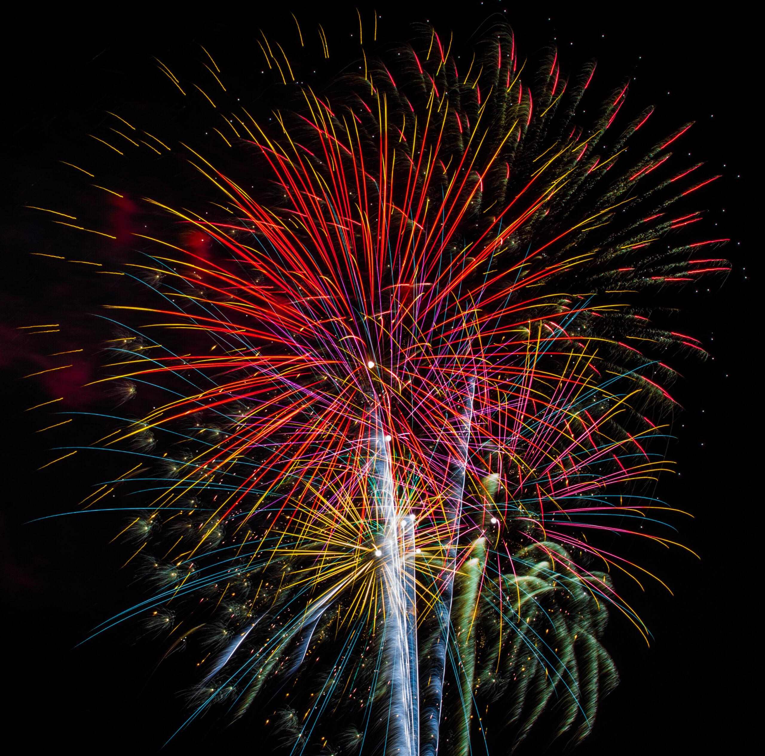 Fireworks on Savannah's Waterfront
